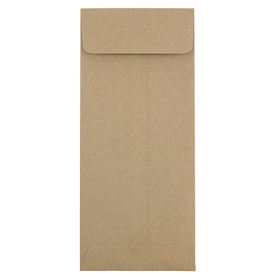JAM Paper® #11 Policy Envelopes, 4 1/2 x 10 3/8, Brown Kraft Paper Bag Recycled, 50/pack (2119018855i)