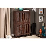 Darby Home Co 18-Pair Shoe Storage Cabinet