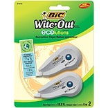 BIC Wite-Out ECOlutions Correction Tape, 2/Pk (WOETP21)