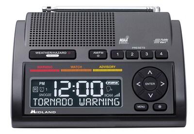 Midland Deluxe Weather Alert Radio with Dual Alarm Clock WR400