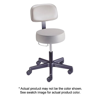 Brewer Value Plus Series Gas Lift Stool with Backrest, Black