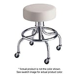 Brewer Traditional Series Exam Stool with Round Foot Rest, Black Satin