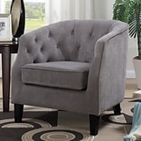 Alcott Hill Timberlane Tufted Armchair; Gray