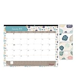 2018 Brownline® 22 x 17 Begonia Monthly Desk Pad Calendar, Floral-Themed (C194113)