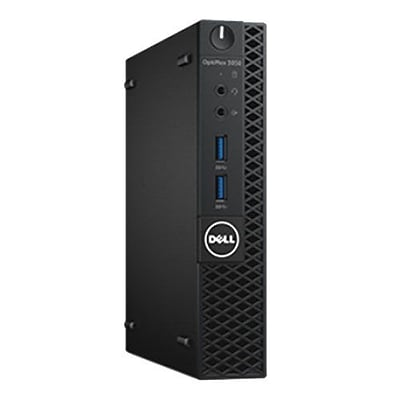 Dell™ OptiPlex KF6FG 3050 Intel Core i3-7100T 128GB SSD 4GB RAM WIN 10 Pro MFF Desktop PC with Wireless LAN