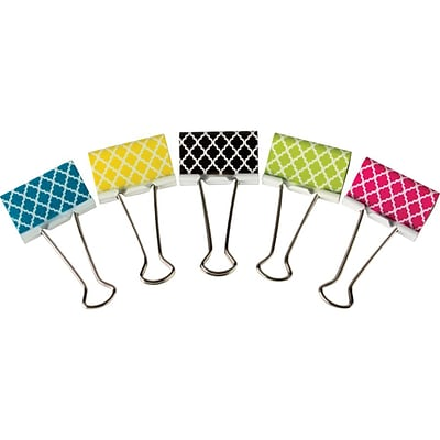 Teacher Created Resources Moroccan Large Binder Clips, 5/Ct