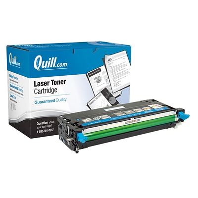 Quill Reman Color Laser Toner Cartridge, Dell 3115 (310-8397/XG722/310-8398/XG726/310-8094/XG722/310-8095/XG726), Cyan
