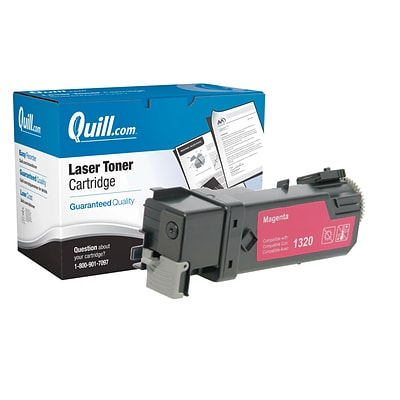 Quill Brand Remanufactured Laser Toner Cartridge for Dell™ 1320c High Yield Magenta (100% Satisfaction Guaranteed)