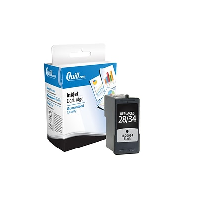 Quill Brand Remanufactured Inkjet Ctdg. Compatible with Lexmark 18C0034/34 Black (High Yield) (100% Satisfaction Guaranteed)