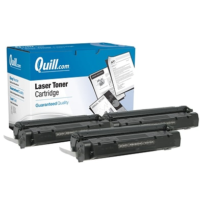 Quill Brand Remanufactured HP 15A (C7115A) Black Laser Toner Cartridges Triple Pack (100% Satisfaction Guaranteed)