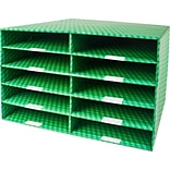 Rebrilliant 10 Slot Laminated Corrugated Construction Paper Sorter