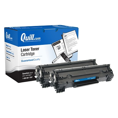 Quill Brand Remanufactured Black Standard Yield Toner Cartridge Replacement for HP 78A (CE278A), 2/Pack