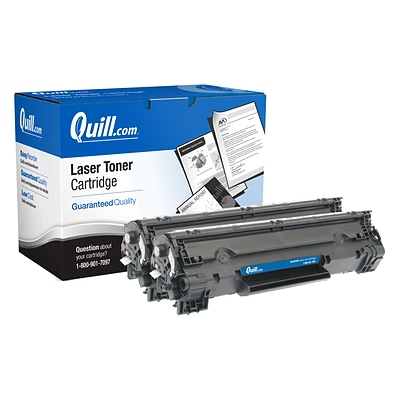 Quill Brand® Remanufactured HP 83A Black Standard Laser Toner Cartridge 2/Pack (CF283AD) (Lifetime Warranty)