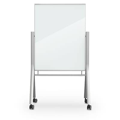 Balt Visionary 47.2H x 35.4W Curve Mobile Magnetic Glass Whiteboard (74955)