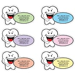 Medical Arts Press® Dental Die-Cut Magnets; 3-1/2x2, Smiling Tooth, Assorted