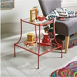 Bungalow Rose Mora End Table; Red