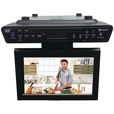 Sylvania 10.2 Under-counter Bluetooth Kitchen TV With Built-in DVD Player & HDMI