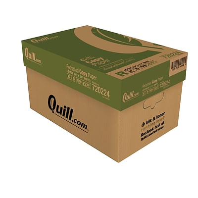 Quill Brand® 8-1/2 x 11 30% Recycled Copy Paper, 20 lbs., 92 Brightness, 10 Reams/CT (720224CT)