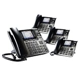 Unison STP-RCAU1B3DOHS 4 Desk Phone Small Office Bundle, Black