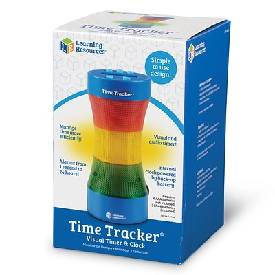 Learning Resources Time Tracker Visual Timer & Clock (LER6900)