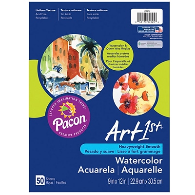 Pacon® Art1st® Watercolor Paper, White, 12x18