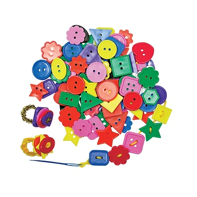 Roylco® Craft Accessories, Bright Buttons™,  1/2 lb.