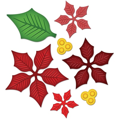 Spellbinders Shapeabilities Dies-Layered Poinsettia