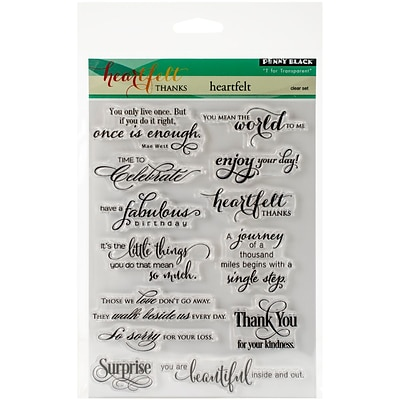 Penny Black Clear Stamps 5X7-Heartfelt