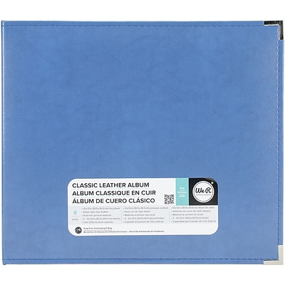We R Classic Leather D-Ring Album 12X12-Country Blue