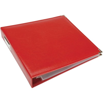 We R Classic Leather D-Ring Album 12X12-Real Red