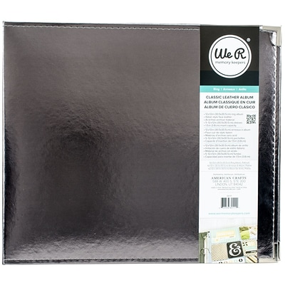 We R Classic Leather D-Ring Album 12X12-Silver