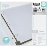 We R Ring Photo Sleeves 12X12 50/Pkg-Full Page