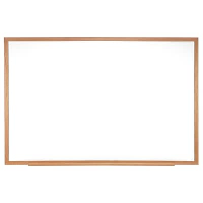Ghent Non-Magnetic Whiteboard with Wood Frame, 4H x 6W