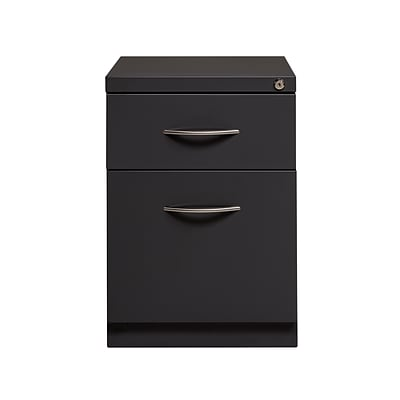 Genial 2 Drawer Mobile Pedestal File Cabinet With Arch Handle, Charcoal, 20 Deep(