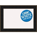 Darby Home Co Westmoreland Framed Cork Bulletin Board; White