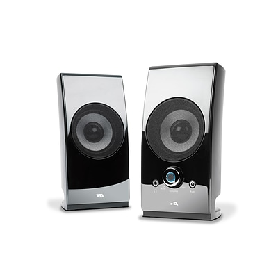 Cyber Acoustics CA-2027 High Powered Desktop Wired Speaker System; 5 W, Glossy Black