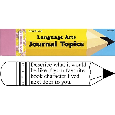 McDonald Journal Booklets, Language Arts