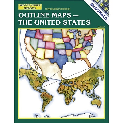 mcdonald publishing the united states outline maps reproducible book