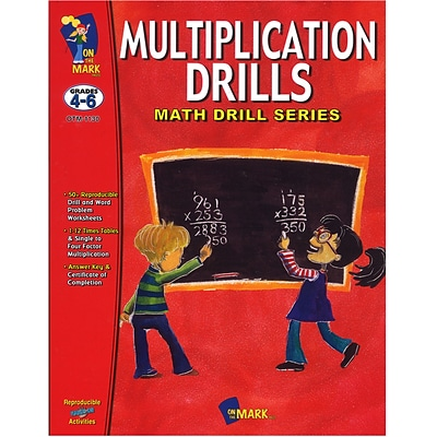 Math Drills, On The Mark Press Multiplication
