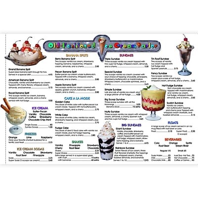 Real World Math, Remedia Menu Math, Old-Fashioned Ice Cream Parlor, Extra Menus, 6