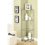Ebern Designs Beckett 46.5 Corner Unit; Silver