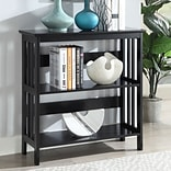 Ebern Designs Cade 32.5 Etagere Bookcase; Black