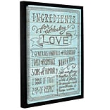 Latitude Run Ingredients for Life III Framed Textual Art; 10 H x 8 W x 2 D