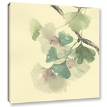 Bloomsbury Market Gingko Leaves III Painting Print on Wrapped Canvas; 10 H x 8 W x 2 D