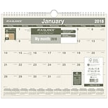 2018 AT-A-GLANCE® Monthly Wall Calendar, Recycled, January 2018-December 2018, 15 x 12 (PMG77-28-1