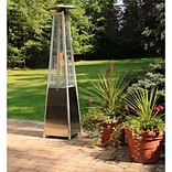 Hanover 7-Ft. 42,000 BTU Pyramid Propane Patio Heater in Stainless Steel