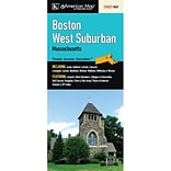 Universal Map Boston West Suburban Fold Map