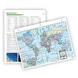 Universal Map World Notebook Map w/ Fact Sheet