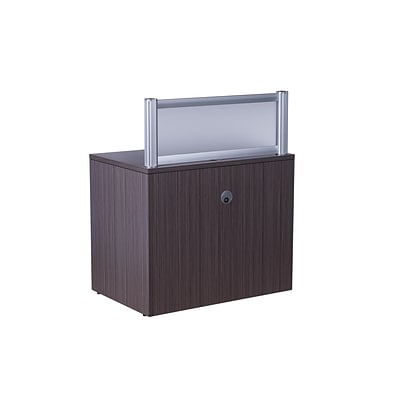 Boss® Laminate Collection in Driftwood Finish, Plexiglass Reception Return
