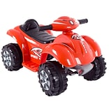 Lil Rider Ride On Toy Quad, Raptor, Battery Powered, 4 Wheeler, Red